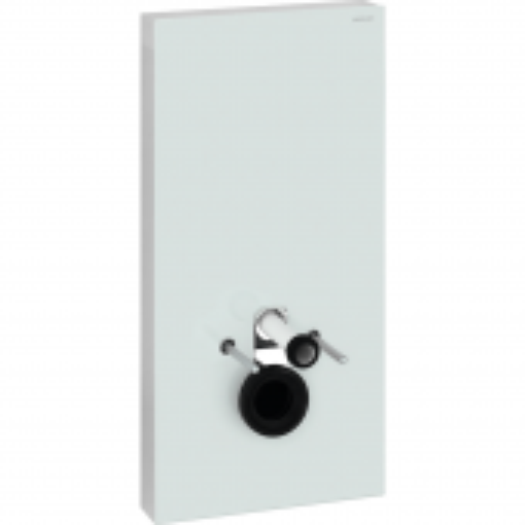 Geberit Monolith Plus - Sanitärmodul für Wand-WC 1010 mm mit Anschlussstutzen weiß