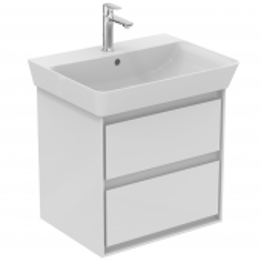 Ideal Standard Connect Air - Waschtisch-Unterschrank 530 x 409 x 517 mm weiß glänzend / matt
