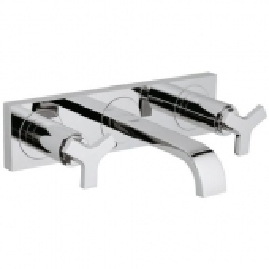 GROHE Allure - 3-Loch-Waschtischarmatur für Wandmontage mit Ausladung 172 mm ohne Ablaufgarnitur chrom