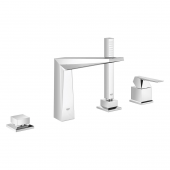 Grohe Allure Brilliant - 4-Loch- Einhebelwannenkombination supersteel