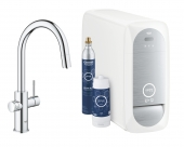 Grohe Blue Home - Starter Kit Mousseur Bluetooth/WIFI C-Auslauf chrom
