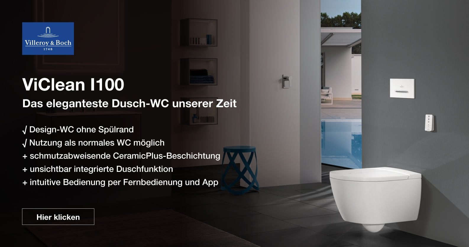 Villeroy & Boch ViClean Dusch-WC