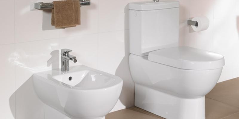Villeroy & Boch Subway Toilette und Bidet bodenstehend