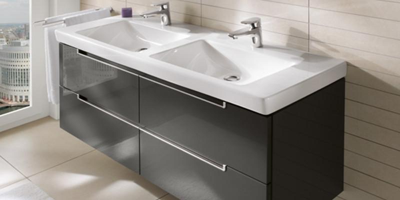 Villeroy & Boch Subway 2.0 Waschtisch mit Waschtischunterschrank